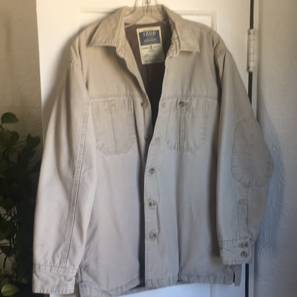 Men's IZOD Heavy Duty Quilted Work Shirt. No Tag.